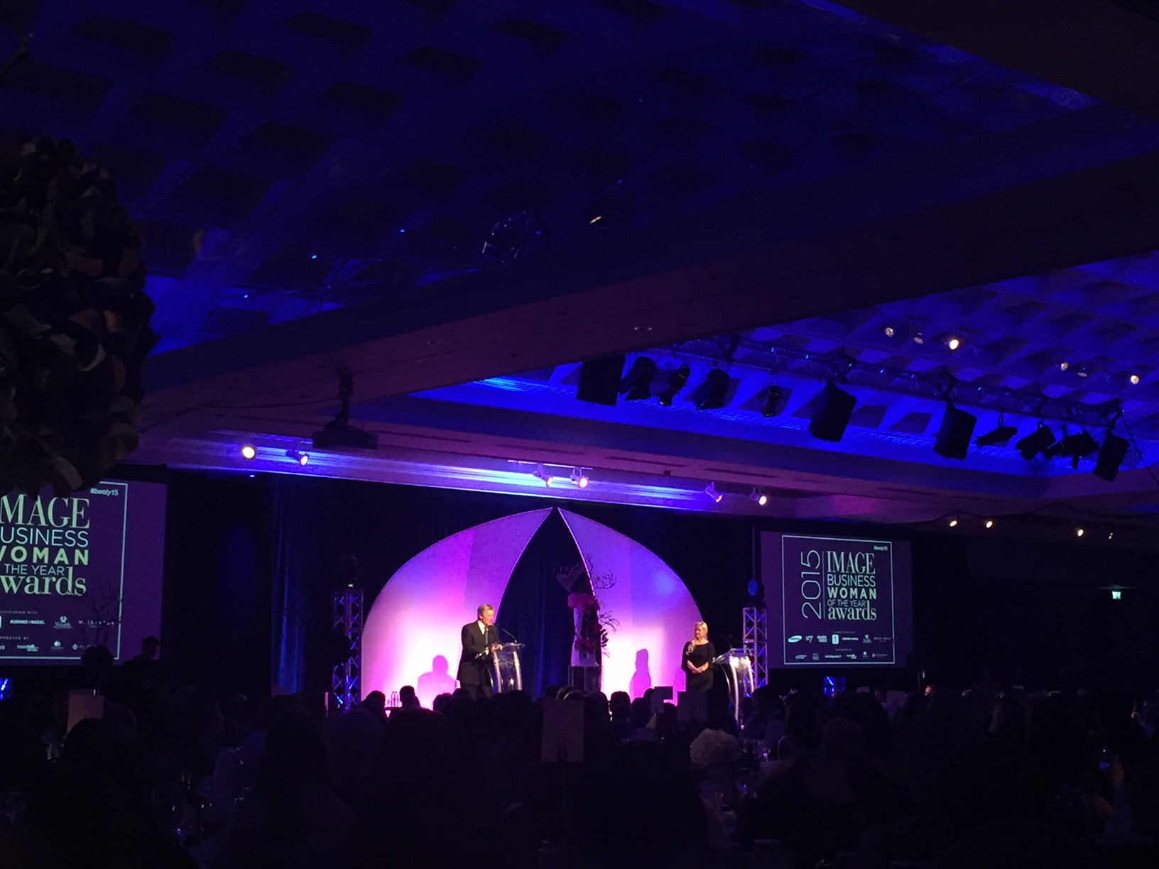 MC Pat Kenny addressing the attendees at the IMAGE BWOTY Awards