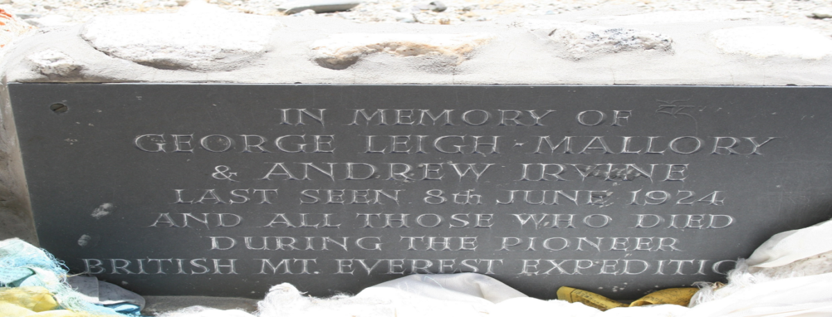 Blog 3_ George Mallory and Andrew Irvine's tombstone at Mount Everest Base Camp